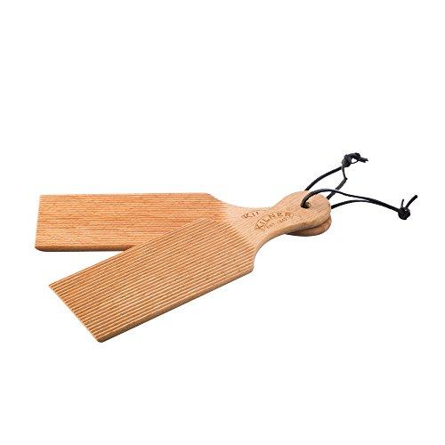 Kilner Butter Paddles, Sturdy Beechwood, Hanging Loop, Set of 2