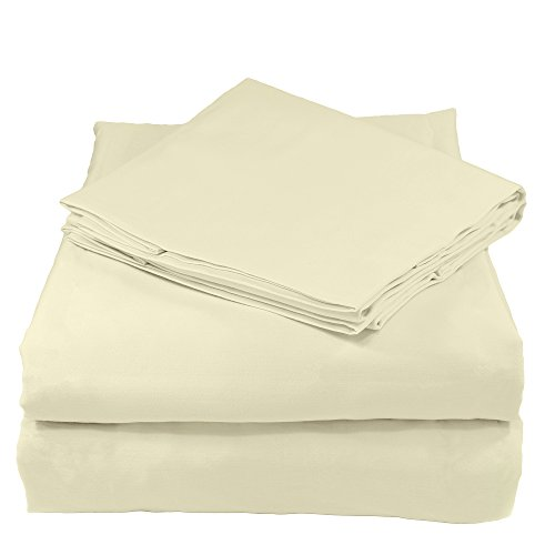 Whisper Organics 100% Organic Cotton Bed Sheet Set, 200 Thread Count, Soft Percale - GOTS Certified (Twin, Natural)