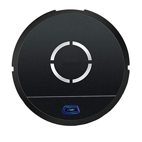 Robot de nettoyage domestique plus propre Intelligent aspirateur rechargeable Mini Lazy Robot Grand nettoyage automatique de balayage d'aspiration Machine, rouge KaiKai (Color : Black)