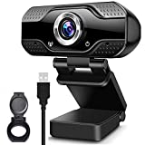 Webcam con Micrófono Cámara Pc de Transmisión en Vivo HD Web Cámara de Video con Cubie...