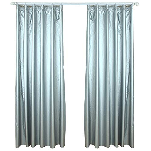 """lieomo 1 Pair Solar Reflective Coated, Blackout Thermal Curtain Lining,Includes 40 Curtain Hooks (66.9"""" (170cm) Wide x 78.7"""" (200cm)"""