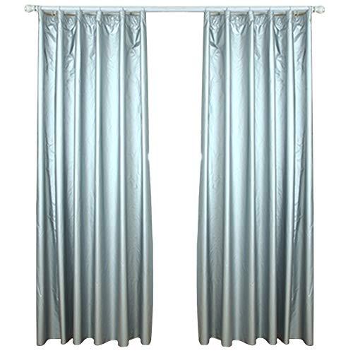 Magic Show - 1 par de cortinas con revestimiento reflectante solar, forro térmico opaco, incluye 20 ganchos de cortina (170 cm) de ancho x (200 cm).