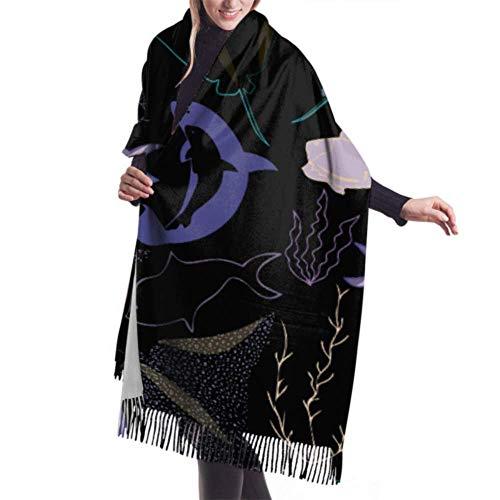 shenguang - Bufanda de invierno para mujer, cachemir, sensación de cachorros, descansando...
