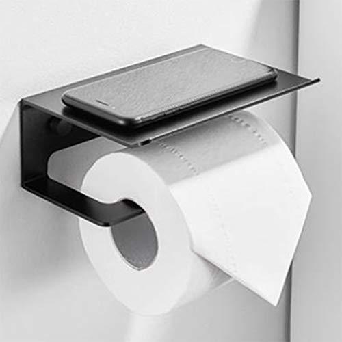 weichuang Montado en la pared Portarollos de baño Soporte de rollo de acero inoxidable Teléfono móvil Soporte de papel de toalla titular de papel higiénico