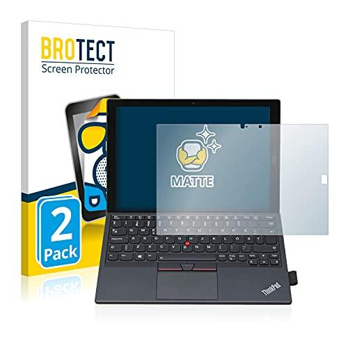 BROTECT 2X Entspiegelungs-Schutzfolie kompatibel mit Lenovo ThinkPad X1 Tablet Gen 2 Bildschirmschutz-Folie Matt, Anti-Reflex, Anti-Fingerprint