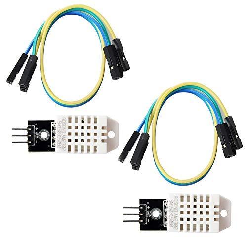DHT22 AM2302 Digitales Temperatur-Feuchtigkeits-Sensormodul 3,3-5 V (Packung mit 2 STÜCK) für Arduino Raspberry Pi Micro: Bit Microbit ESP8266 ESP32 NodeMCU Micro: Bit