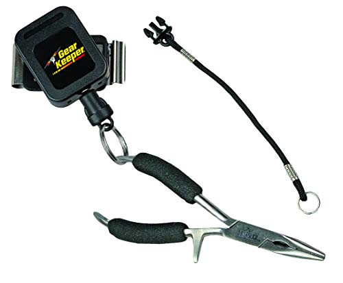 """Hammerhead industries gear keeper net retractors – features various mounting options with qc-ii split ring accessory… 5 essential: best way to carry your net…grab your net, use it, let it go… it retracts back everytime! When fishing, our 42"""" extension and 12oz retraction force provides full arms reach and gentle retraction force. Retractable tether, prevent loss: no more fumbling with magnetic latches or lost nets. Net hangs basket down within easy reach to grab and extend. If a fish runs and you need your hands, simply release the net and it retracts out of the way. Ultimate mounting: hook and loop strap mount is very versatile easily attaches to a pack or wader strap, belt or any bar, d-ring or strap in a kayak."""