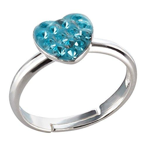 SL-Silver, anello da bambina con piccolo unicorno in argento Sterling 925, misura regolabile, in confezione regalo