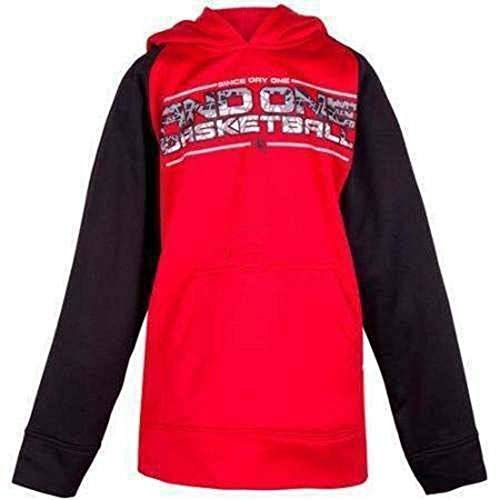 AND1 Boys Red & Black Basketball Long Sleeve Pullover Hoodie Shirt (8)