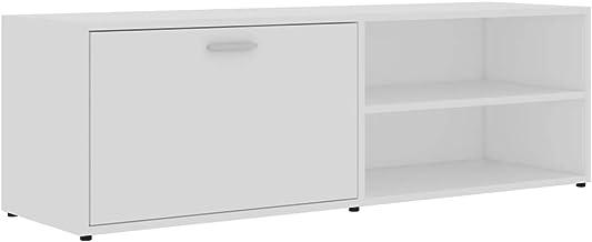 vidaXL TV Cabinet HiFi Plasma Stereo Stand Lowboard Living Room Bedroom Furniture Entertainment Center Unit White 120x34x3...
