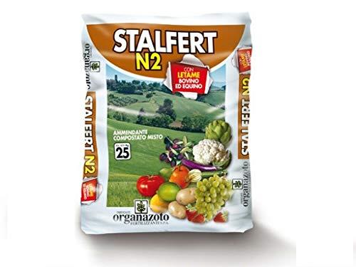 CONCIME STALLATICO PELLETTATO professionale N 2,5 STALFERT ortaggi frutta 25 KG AMDGarden