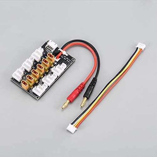 ACEHE 6 Paquetes XT30 1S-3S 20A XT30 Enchufe Lipo Batería Tablero de Carga Paralelo para RC IMAX B6 Cargador Car Drone Balance Charge Part