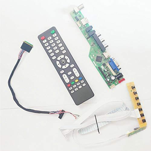 Para B140XW02 V0 V1 1366 * 768 14 pulgadas T.V53 pantalla controlador de unidad portátil panel HDMI VGA USB AV RF WLED LVDS 40Pins DIY kit (B140XW02 V1)