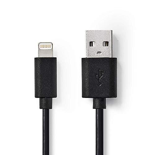 NEDIS Daten- und Ladekabel | Apple Lightning, 8-poliger Stecker - USB-A-Stecker | 2,0 m | Schwarz