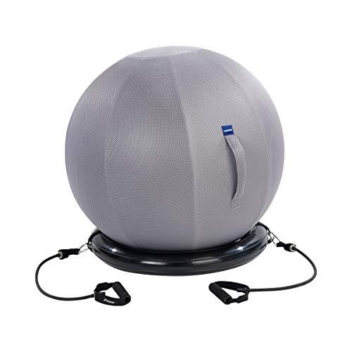 Fitness-Set | Zubehör für Gymnastikball, Ballschale mit zwei abnehmbaren Expandern