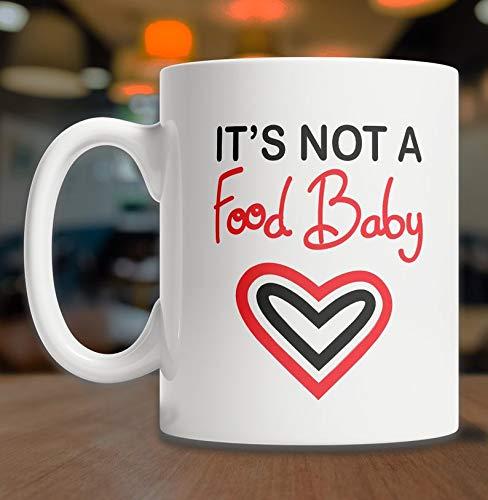 DKISEE Niet Een Voedsel Baby Koffie Mok - Zwangerschap Aankondiging - Baby Aankondiging - Ik ben Zwangere Koffie Mok - Nieuwe Baby Gift - Het Hebben van Een Baby Koffie Mok - Nieuwe Ouder Gift 11oz Kleur: wit
