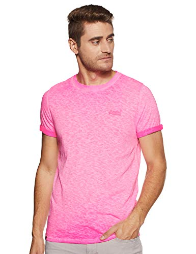 Superdry Low Roller tee Camiseta, Rosa (Deep Pop Pink Ps4), Large para Hombre