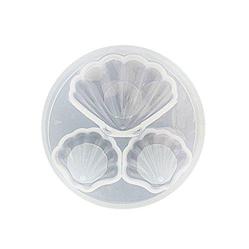 Babysbreath17 DIY Tools Kristalltropfen von Kleber-Silikon-Form-Sammlung Mold, handgefertigtem Schmuck Werkzeug, Transparent Mold, Jude Shells Liebe Mold-Decoration