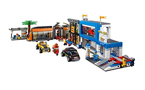 building blocks Town Square 1,683pcs with Free Storage. Compatible with 60097