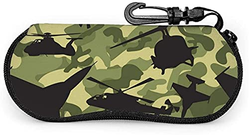 MODORSAN Air Force Camouflage Double Brushed-Beautiful Flower Estuche para anteojos suave para mujeres y hombres