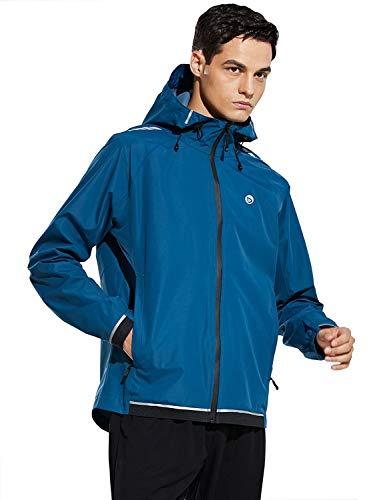 Baleaf Men's Lightweight Windbreaker Zip Up Running Track Sport Packable Jackets Waterproof Windproof Teal Size XL