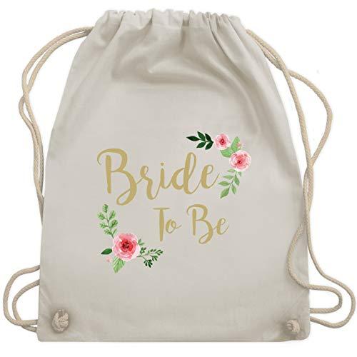 Shirtracer JGA Junggesellenabschied Frauen - Bride To Be - Unisize - Naturweiß - turnbeutel bride to be - WM110 - Turnbeutel und Stoffbeutel aus Baumwolle