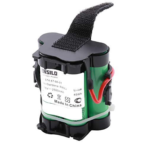 INTENSILO Akku passend für Gardena R38Li, R40Li, R45Li, R50Li, R70Li, R75Li, R80Li, 124562 Mähroboter Rasenroboter - (Li-Ion, 2500mAh, 18V) Batterie
