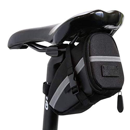 gotyou Sac de Queue de vélo étanche, Sacoche de Selle de vélo avec Sangle réfléchissante, Accessoires de vélo/VTT, Sac de Rangement pour vélo pour l'équitation en Plein air, Noir