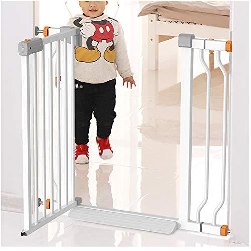Baby-Tor Erweiterte Baby Treppengeländer Kindersicherheitstür Zaun Frei Stanzen Haushalt Schutzgeländer Haustier Hund Isolation Türstange Automatische Erholung ( Color : White , Size : 153-160cm )