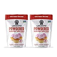 Lakanto Powdered Monkfruit Sweetener - Powder Sugar Substitute 1 LB - Pack of 2