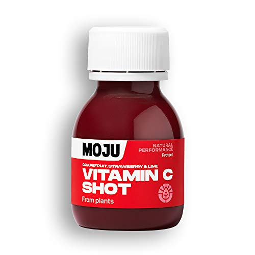 MOJU Vitamin C Shots   Acerola, Pomegranate   Fresh HPP Cold Pressed Shots   Pack of 12 (12 x 60ml)