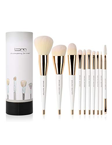 Brush Master Makeup Brushes Set for Kabuki Foundation, Eyeshadow, Blush, Blending, Lip, Full Face...