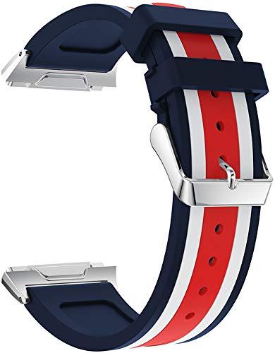 Classicase Correa de Reloj Compatible con Fitbit Ionic, Silicona Banda de Reemplazo Pulsera (Pattern 2)