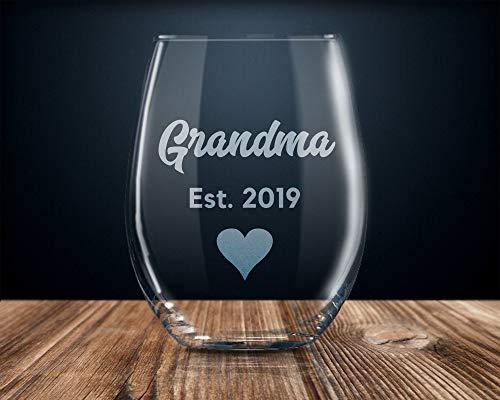 DKISEE Openbaring aan oma, toekomstige oma, nieuwe oma geschenk, nieuwe oma wijn glas, oma naar zijn, zwangerschap aankondiging, oma 2019 11oz