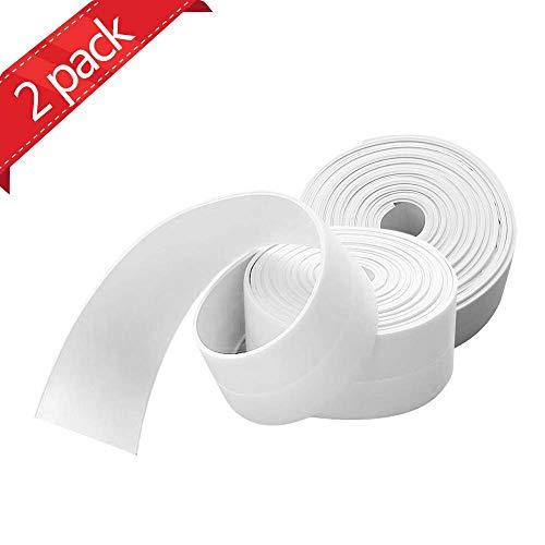 Selbstklebende Dichtband,Wasserdichtes klebeband,Auf die küche/toilette/badezimmer in der ecke.Verhindert, dass Feuchtigkeit und verhindert Schimmel-[2 Rollen Abdichten Klebeband] (Weiß)