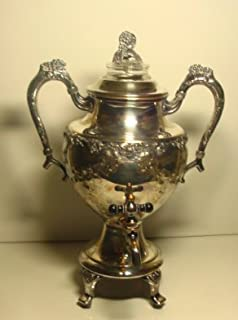 INTERNATIONAL SILVER VINTAGE-CHASED Silver plated Electric Silverplate Coffee Urn