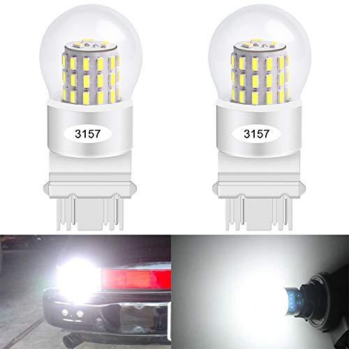 Paquete de 2 3157 3047 3057A Luz LED Blanca 12V-CC Juego 3014 39SMD 3157A Reemplazo Regulable de la Base Para Cola Luz de Advertencia de Giro de la Lámpara de Estacionamiento Luces de Estacionamiento