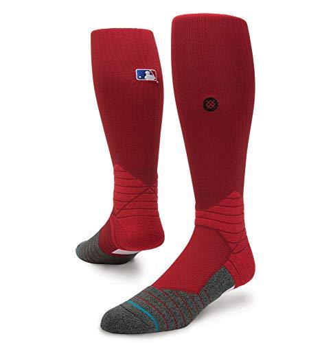 Stance Herren Diamond Pro OTC MLB On Field Calf Socken, Herren, dunkelrot, Large