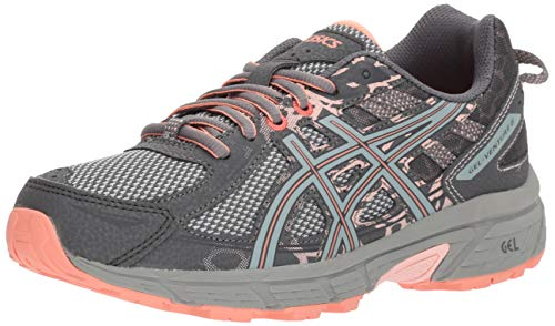 ASICS Women's Gel-Venture 6 Running Shoes, 8.5M, Carbon/Mid Grey/Seashell Pink
