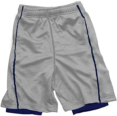 Wes & Willy Boy's Lined Performance Short-Heather