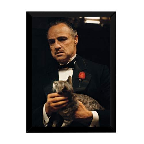 Quadro O Poderoso Chefão Vito Corleone Foto Poster Moldurado