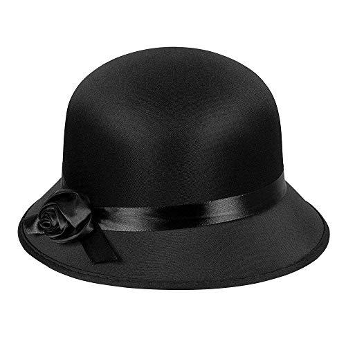 Boland - Sombrero para disfraz de adulto Charleston, talla única - 26.5 x 26 x 16 cm, color negro