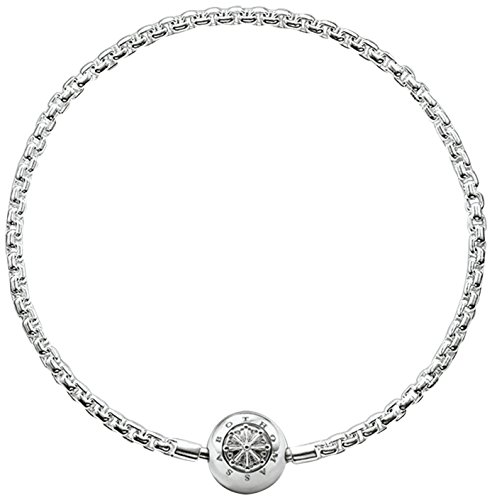 Thomas Sabo Women's 925 Sterling Silver Women's Karma Beads Bracelet of Length 18 cm