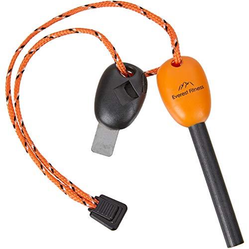 LYMPRO Encendedor Militar – Robusto y Durable - hasta 12.000 encendidos – bajo frío y Humedad - pedernal/mechero/iniciador/raspador Piedra para encender Fuego/magnesio & Hierro
