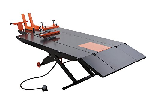"APlusLift MT1500X 1,500LB Air Operated 48"" Width ATV Motorcycle Lift Table with Side Extensions (Free Service Jack, Free Home Delivery) / 24 Months Parts Warranty"