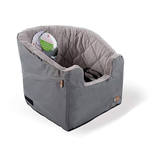 K&H Pet Products Bucket Booster Dog Car Seat Small Gray 14.5' x 20'