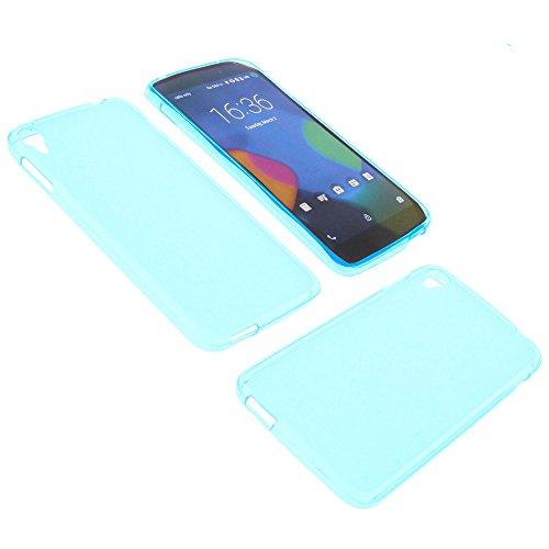 foto-kontor Tasche für Alcatel One Touch Idol 3 5.5 Gummi TPU Schutz Hülle Handytasche blau