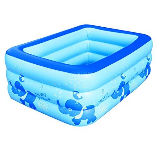 Baignoire Gonflable, Baignoire Pliante rectangulaire pour Enfant en PVC - Bleu 130CM * 88CM * 50CM