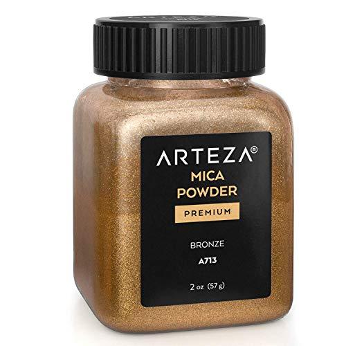 Arteza Mica Pulver Bronze A713, Epoxidharz Farbe Pulver, 57g Flasche, Glimmerpulver in kosmetischer Qualität zur Herstellung von Seife, Nagellack, Badebomben, Kerzen und Schleim