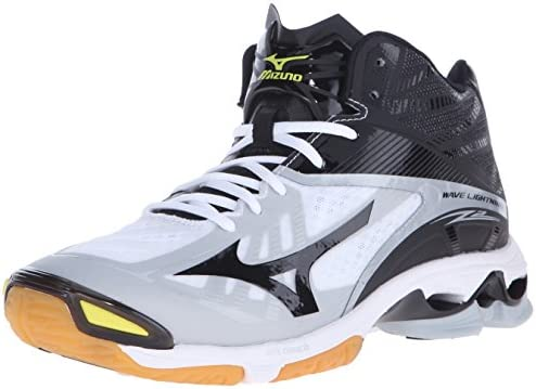 Mizuno Men s Wave Lightning Z2 MID Volleyball Shoe White Black 7 D US product image